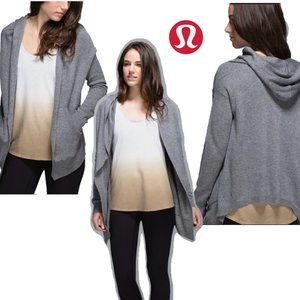 NWOT Lululemongray cabin wrap sweater hoodie Sz 10